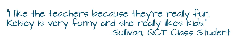 Class Testimonial (Sullivan)