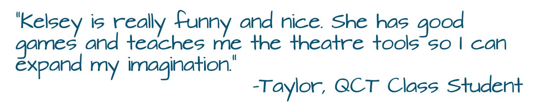 Class Testimonial (Taylor)