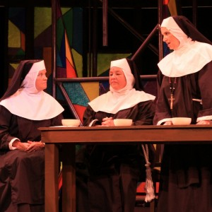 Deb's first show, SISTER ACT (from left to right: Lana Anderson, Deb Druffel, Doris Sanders)