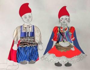 Sketch Elf Couple Costumes