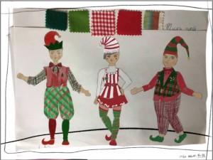 Sketch Elf Trio Costumes