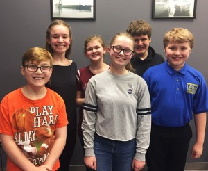 Photo Features (from left to right): 1st Row: Aidan Hutton, Thalia Wolfmeyer, Joey Engelmeyer 2nd Row: Lily Twaddle, Reid Parrish, Christian Quintanilla